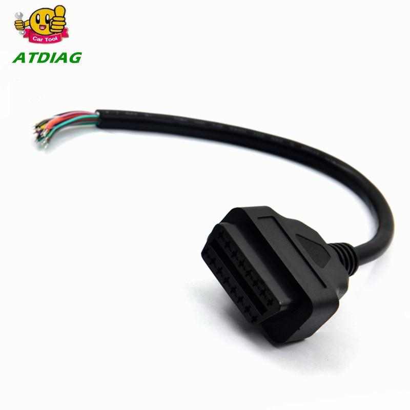 OBD2 Male Extension Opening Cable 16PIN Car Diagnostic Interface Connector 24V