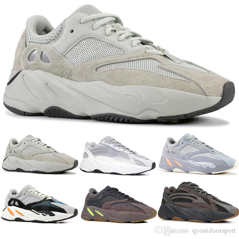 3bbf51ebb 2019 700 Geode Inertia Wave Runner OG Solid Mauve Women Men Running Shoes  700 V2 Static Kanye West Dad Shoes Designer Sneakers Sports Trainers From  ...