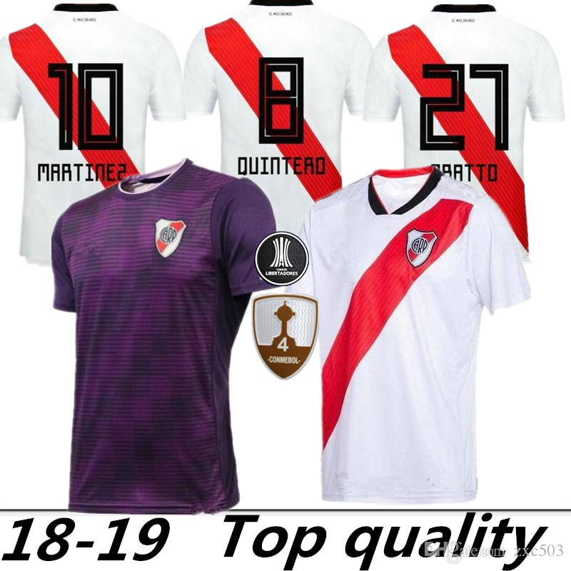 998ef9d6508 2019 River Plate Soccer Jersey MARTINEZ Football Uniform 2018 2019 Home Away  FERNANDEZ PEREZ PONZIO MAYADA QUINTERO ZUCULINI Maillot De Foot From  Zxc503, ...