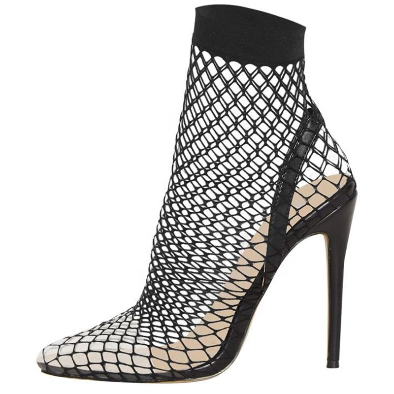 c222047f ENMAYER 2019 Sexy Pointy Toe PVC Large Size Stilettos Bohemian Style Women  Mesh Heel Sandal PVC Shoes Sandals High Heels Online with $85.72/Pair on ...