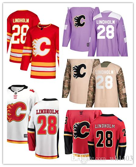 383f33cdc 2019 Calgary Flame Jerseys #28 Elias Lindholm Jersey Hockey Men Women Youth  Alternate Red Home White Away Stiched USA Flag Fashion Jerseys From Wk1403,  ...