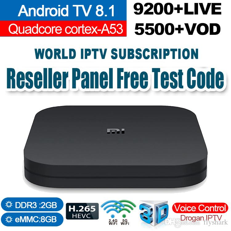 Xiao Mi TV Box S Android TV 8 1 Smart TV Box 2G 8G Media Player Google  Remote Youtube BT Dual-Band WIFI IPTV Subscription