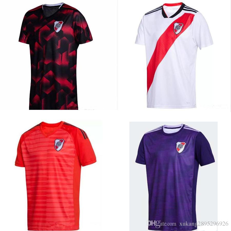 4fbe7e2b7c2 2019 2018 2019 River Plate Home White Soccer Jersey River Plate Away Red Soccer  Shirt Perez 18/19 R.Martinez Scocco Riverbed Customized Football From ...