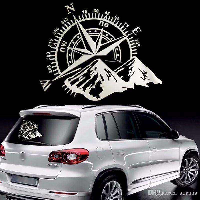 50x60 Cm Off Road Kompass Auto Aufkleber Rose Navigieren Vinyl Aufkleber Aufkleber Auto Lkw Auto Laptop Autotür Und Haube