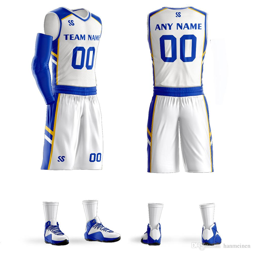 13030082f88 2019 2018 New Basketball Uniforms Custom Kids Male Adult Ball Suit  Basketball Training Match Jerseys Customized Wholesale Printed Numbers From  Hanmeinen, ...