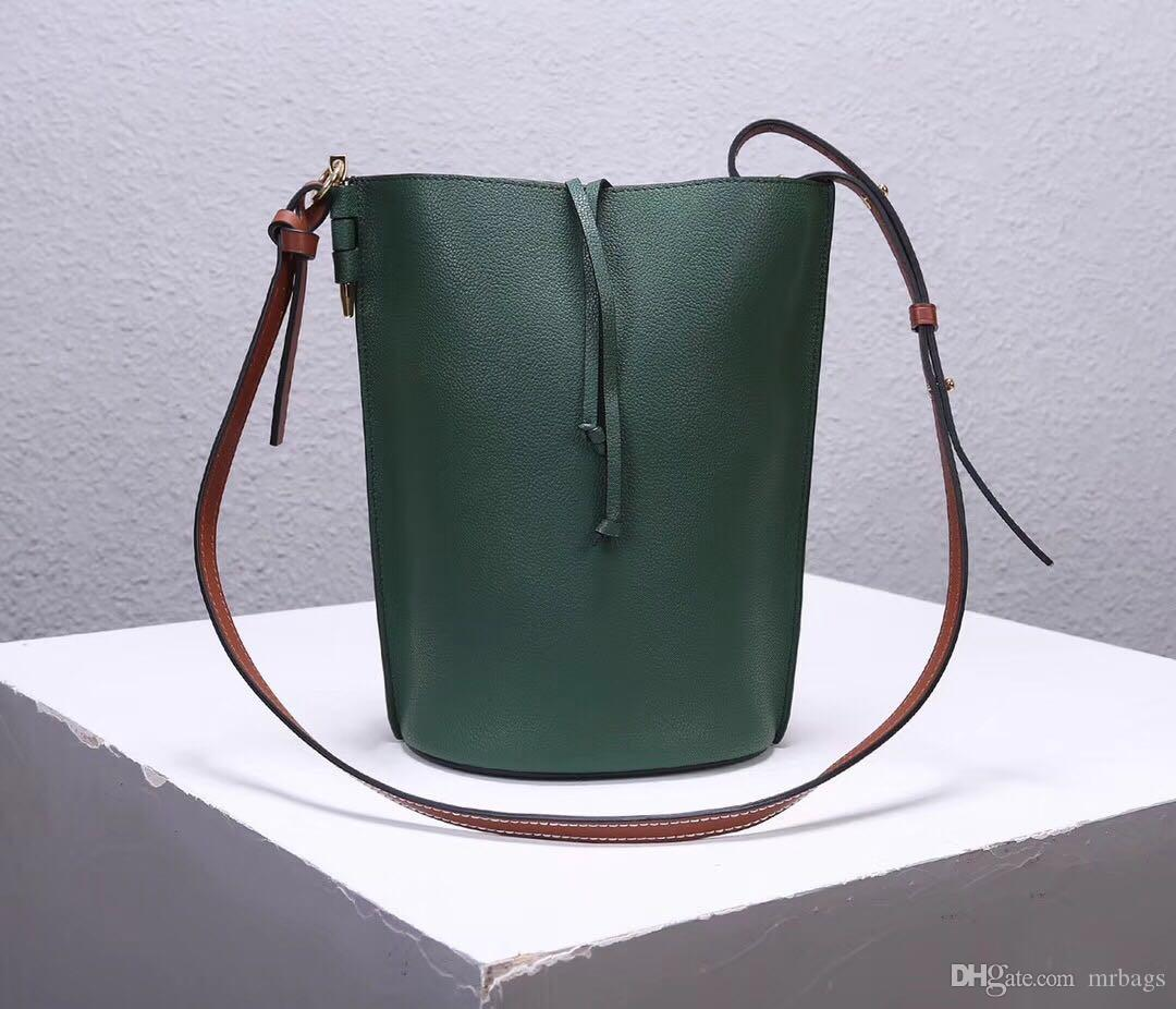 Lady hot bucket bag high-end custom luxury designer cross body bag fashion casual style adjustable leather shoulder strap