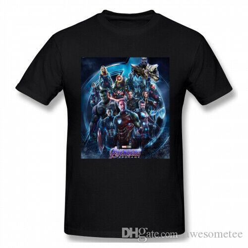 Mens End Game Avengerss 4 All Superhero Kurzarm 100% Baumwolle T-Shirt T