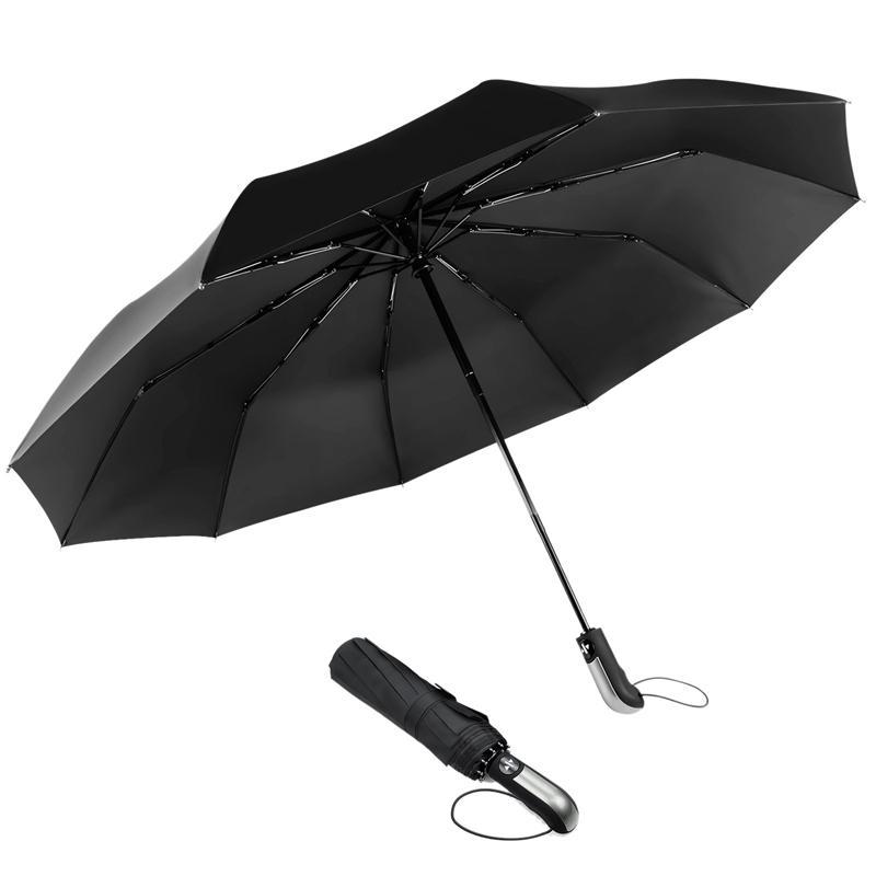 dec30d4d7d37 Travel Umbrella Large Umbrella Windproof Waterproof,Compact Folding Black  For Travel,Auto Open Close In 1 Se