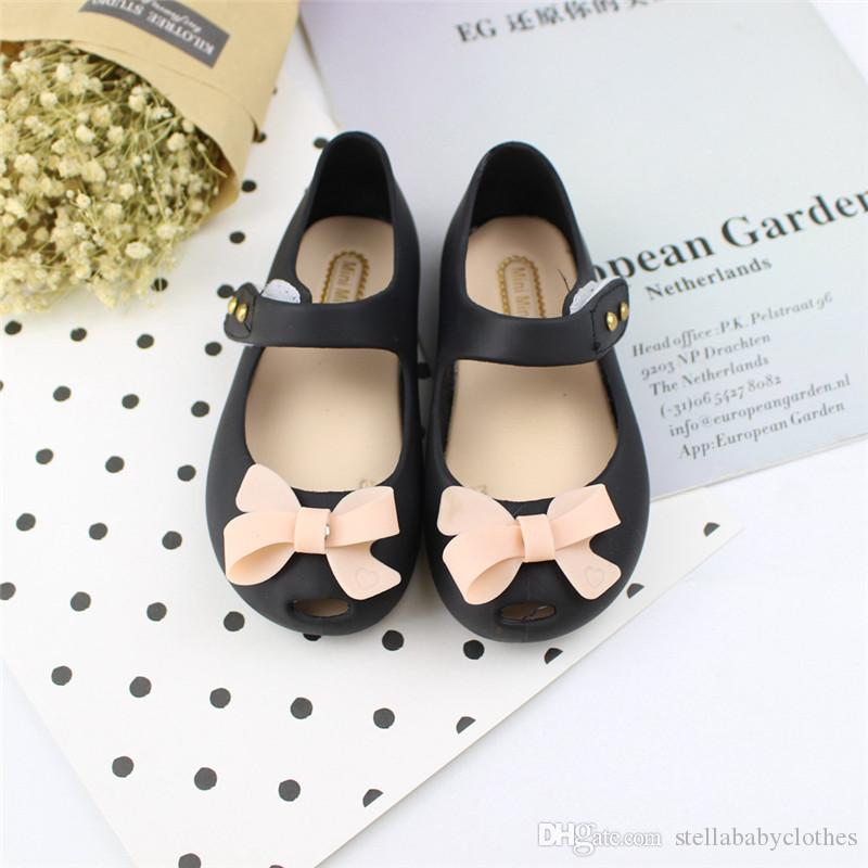 2019 children's shoes women's summer Korean version of the bow sandals children's non-slip breathable fish mouth plastic shoes small c
