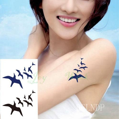 Waterproof Temporary Tattoo Sticker Feather fly bird Flash Tatoo Fake Tatto arm leg Wrist Foot hand shoulder For Girl Men Women