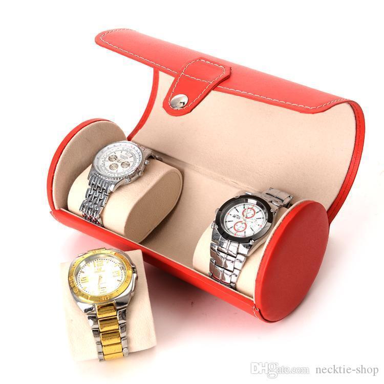 Scatole di visualizzazione del contatore dei monili della scatola della catena della mano della scatola di orologio della nuova di caso di cortex 3 posizioni