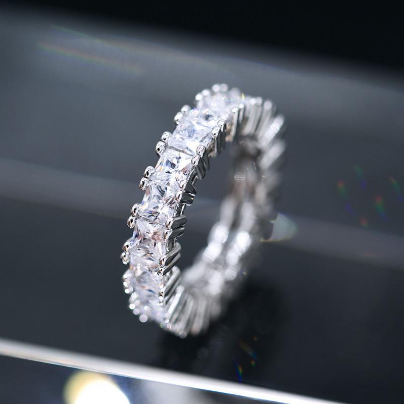 2019 Best Sellers European Luxurious Zircon Ring Full Set Diamond