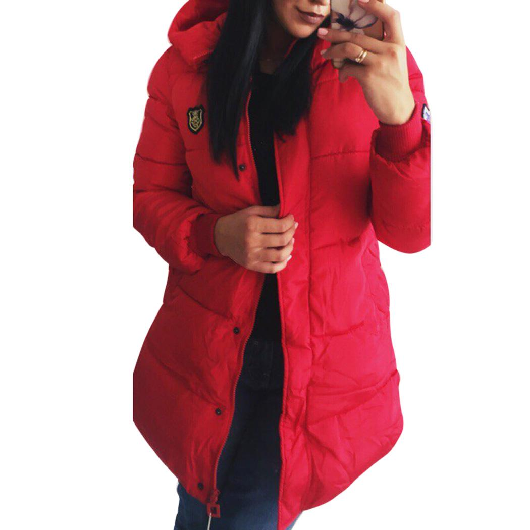 4b558d96621 Women Winter Coat Parka Thick Warm Zipper Slim Fit Hooded Jacket ...