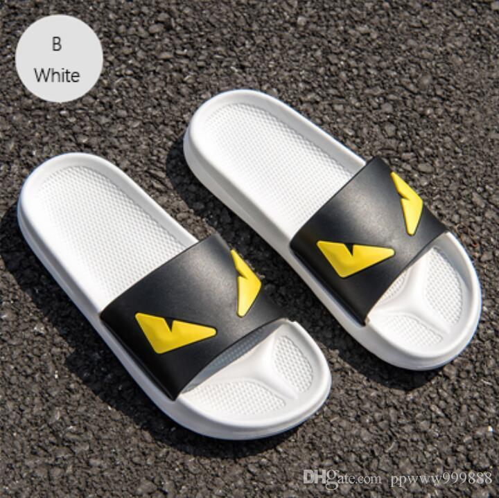 2019 Zapatillas Hombres Dos Dibujos Soles Sandalias Diablo Zapatos Verano Mujeres Animados Ojos De Diferentes Mensaje Parejas Hombre knO8wP0X