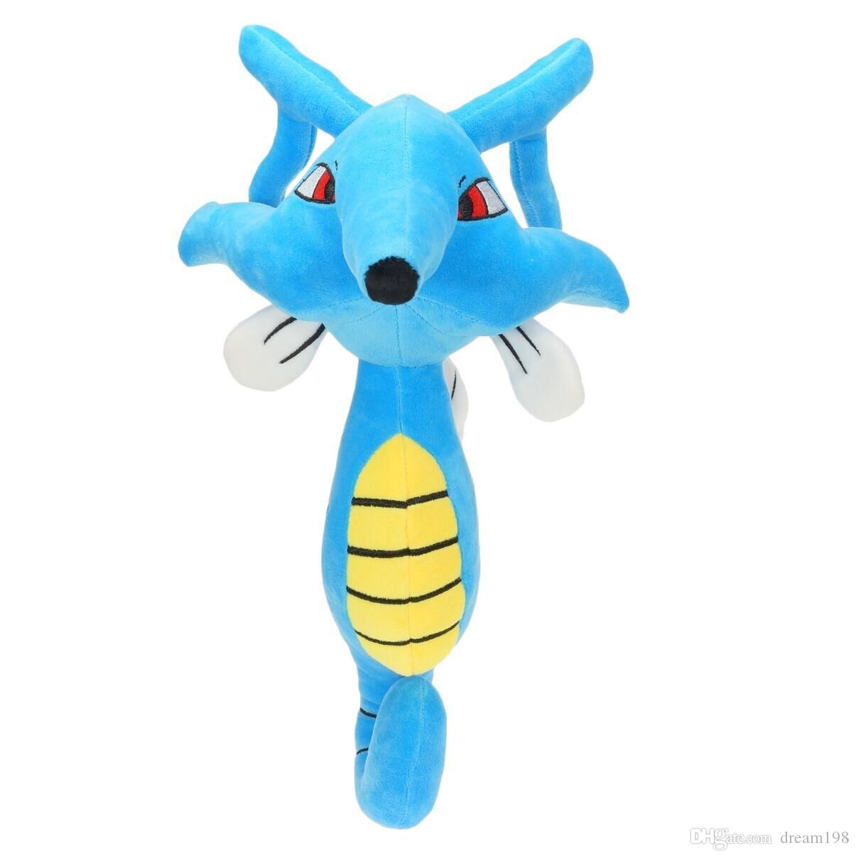 High Quality 100% Cotton Kingdra Pikachu Plush Stuffed Toy Animals For Baby Best Gifts 11.8inch 30cm Wholesale