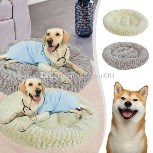 Dog Beds Mats Sofa Kennel Doggy Warm House Winter Pet Sleeping Bed House for Puppy Small Dog Blanket Cushion Basket Supplies 56CM