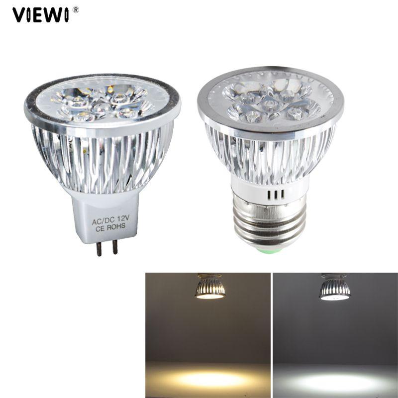 Lampade Led 220v.4pcs Lampade Led Spotlight Mr16 E27 Ac Dc 12v 24v 4w High Power Bulb Light 110v 220v Spot Bulbs Energy Saving Lamp 12 24 Volt