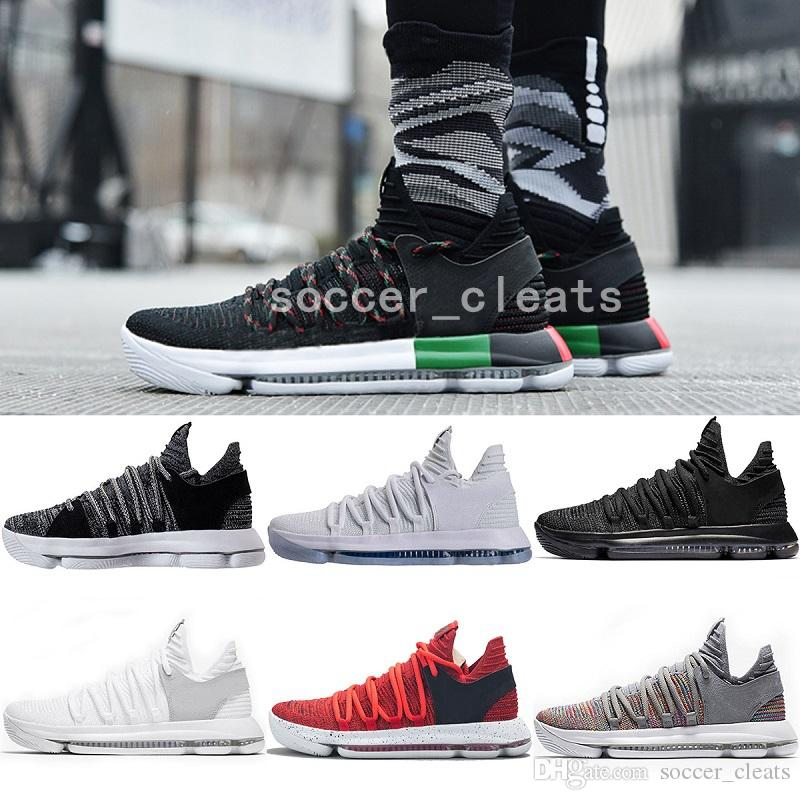 promo code 2d89d f6317 2019 2019 New Zoom KD 10 Anniversary PE BHM Oreo Triple Black Mens  Basketball Shoes KD 10 Elite Low Kevin Durant Athletic Sport Sneakers From  Soccer cleats, ...