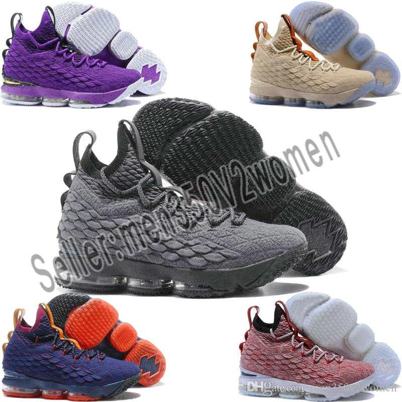 new style 50617 3fc37 All 15s equality basketball shoes for men james bhm oreo new-le&bron 15  equality sneakers szie 40-46