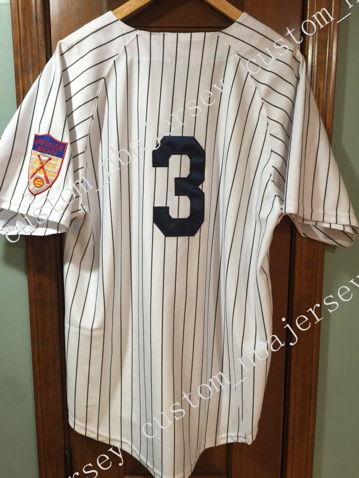 63516cabb95 2019 Cheap Custom Babe Ruth  3 Vintage Jersey W Patch Stitched Customize  Any Number Name MEN WOMEN YOUTH XS 5XL From Custom nbajersey
