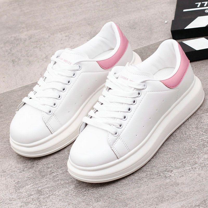952e85901 Compre Mulheres Sneakers 2019 Primavera New Designer Cunhas Sapatos Brancos Sapatilhas  Plataforma Feminina Mulheres Tenis Feminino Casual Sapatos Femininos ...