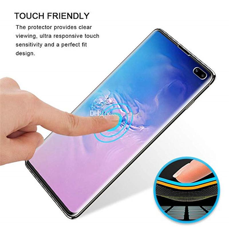 Полное покрытие Изогнутые Clear Front Screen Protector Защитная пленка Мягкая ПЭТ Нет закаленное стекло для Samsung Galaxy Note 20 S20 S10 Ультра Плюс 10 9