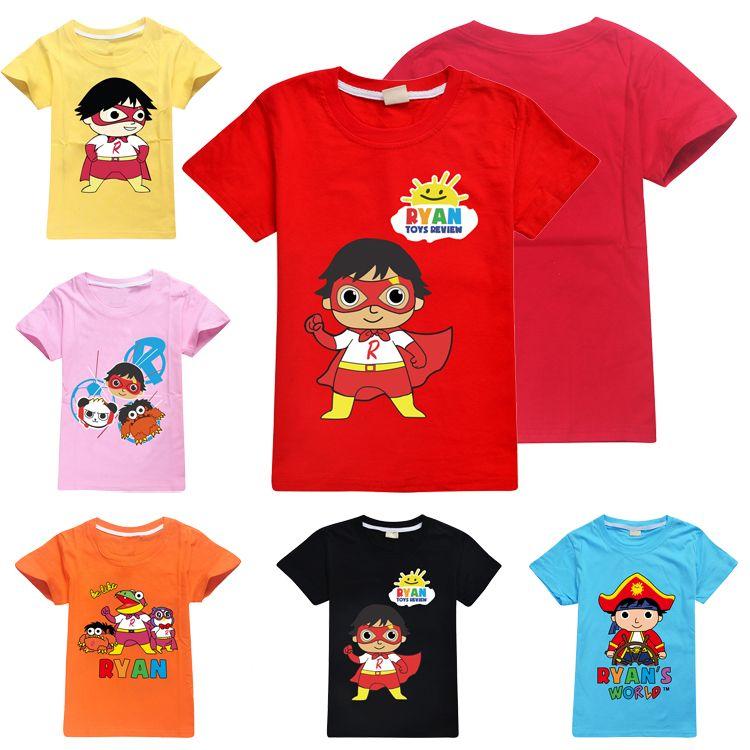 Ryan Toys Review T-Shirt Children Kids Boys Girls Summer Cotton Tops 100/% Cotton