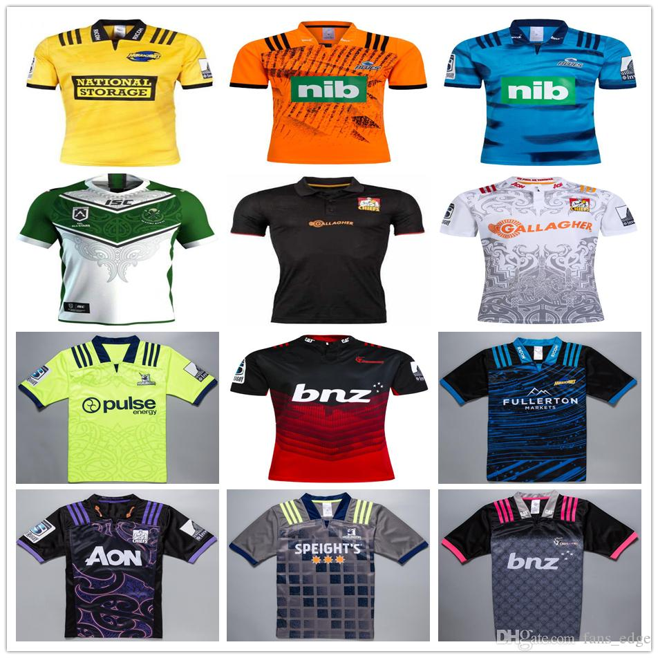 26ac300e8b4 2019 2018 2019 New Zealand Super Rugby Jerseys Highlanders Hurricanes Blues  Maori All Stars Chiefs Crusaders 18 19 Football Shirts Size S XXXL From ...