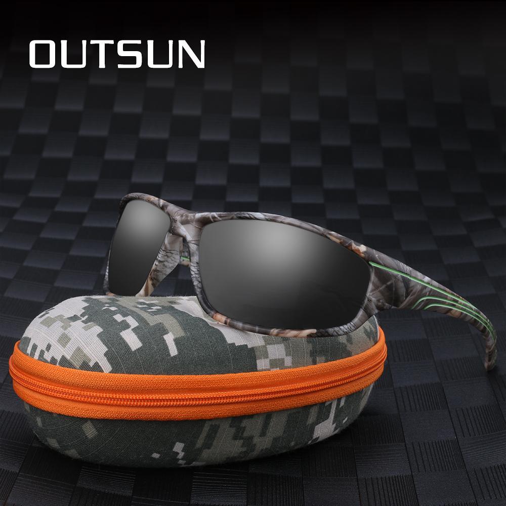 4d64321741d OUTSUN Polarized Sunglasses Men 2019 New Camo Style TR90 Frame Eyewear Sun  protection Goggles Sport Fishing Sunglasses