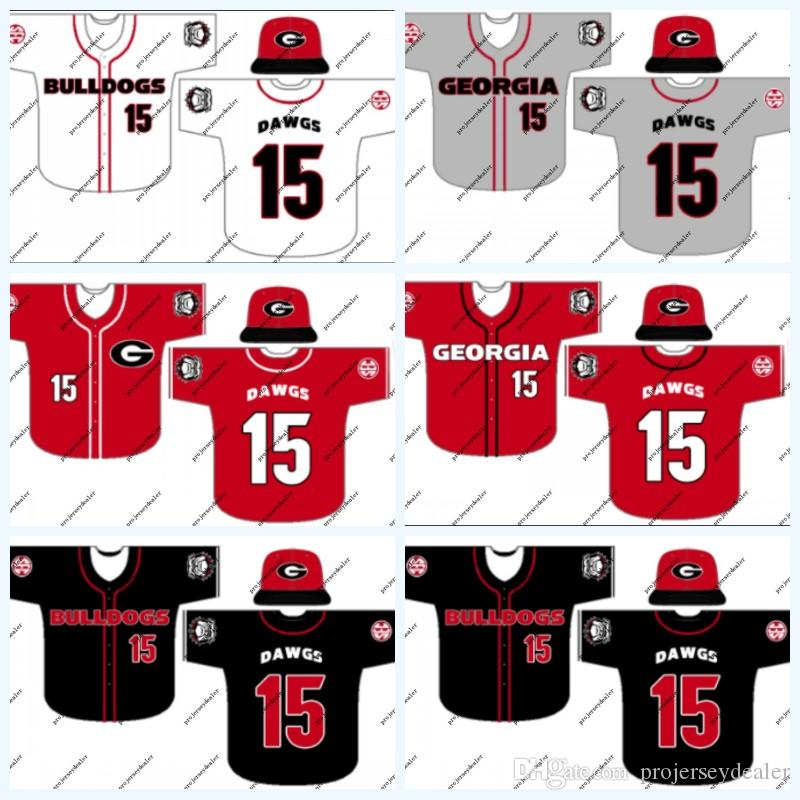 new arrival f5350 0d69d Georgia Bulldogs NCAA College Baseball Jersey For Mens Womens Youth Double  Stitched Name & Number & Logo High Quailty Free Shipping