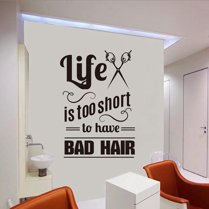 cheap stickers hair salon vinyl decals hairdresser stylist wall