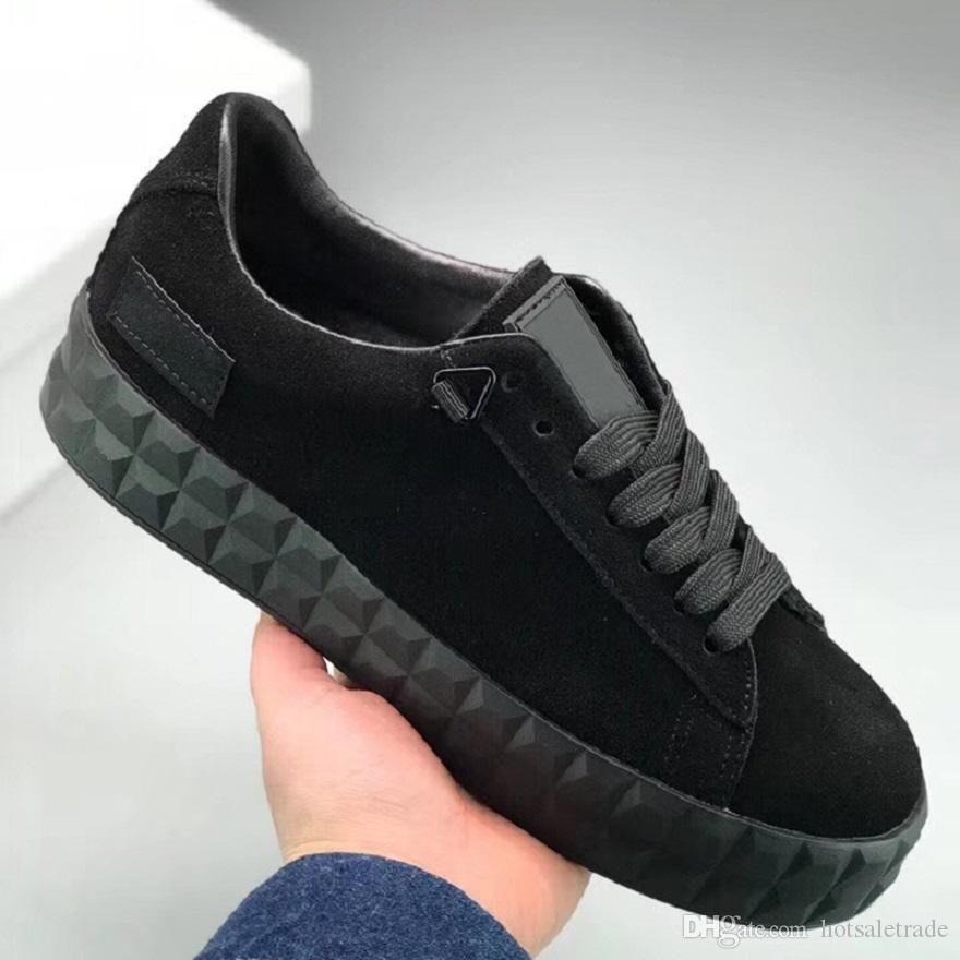 7799f8a44 Compre Plataforma De Luxo X O.MOSCOW Rihanna Mulheres Sapatos Casuais  Designer De Camurça Tênis Esportivos Bege Preto De Couro Genuíno Sapatos  Casuais ...