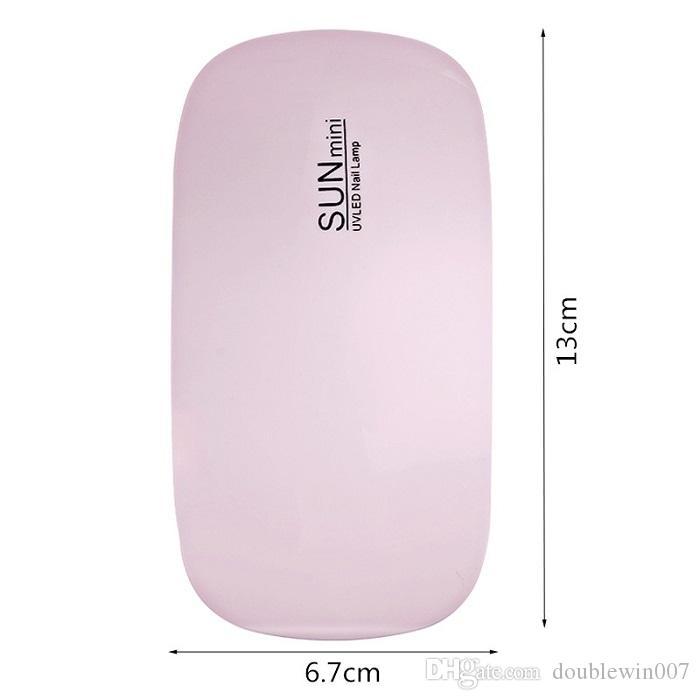 Taşınabilir Mini 6 W LED Lamba Tırnak Kurutucu USB Şarj 30 s 60 s Zamanlayıcı LED Işık Hızlı Kuru Çivi Jel Manikür Nail Art Için