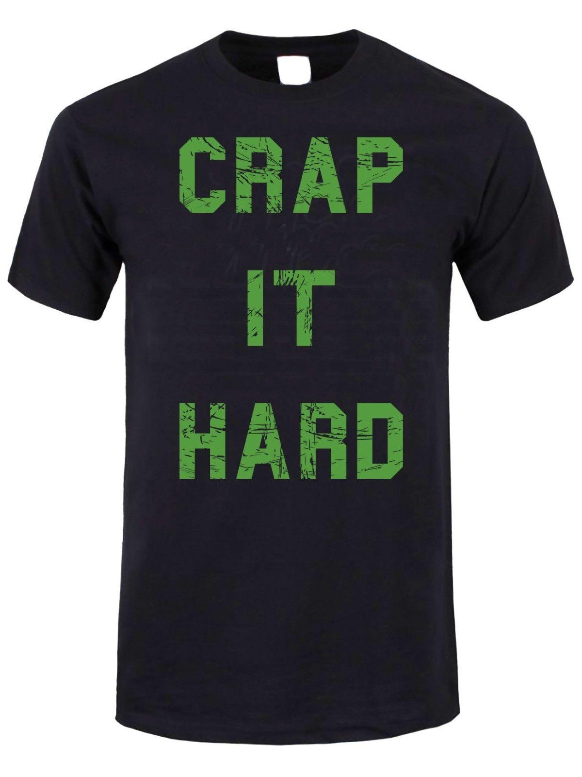 b224a4600853b CRAP IT HARD T-Shirt Gary Godspeed Quote Men's Funny T-Shirts Funny free  shipping Unisex Casual Tshirt top