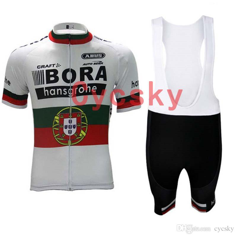 2019 New BORA team cycling jersey Tour de France Men's cycling clothing sleeve bib shorts mtb bike maillot ropa ciclismo sportswear