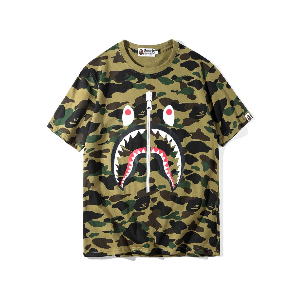 mens T-Shirt Camouflage Cartoon Leisure Time T-shirts Easy Short Sleeve T shirts for men T-Shirt