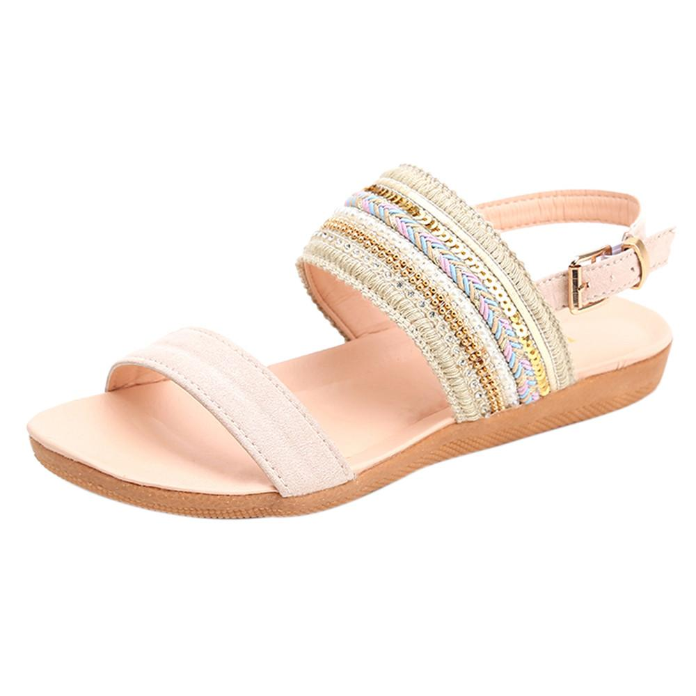 1d041de0d4a4f7 Xiniu Women Buty Damskie Bohemia Slippers Flip Flops Flat Sandals Toe Beach  Gladiator Ankle Shoes Zapatos De Mujer  A0126 Red Wedges Summer Shoes From  ...