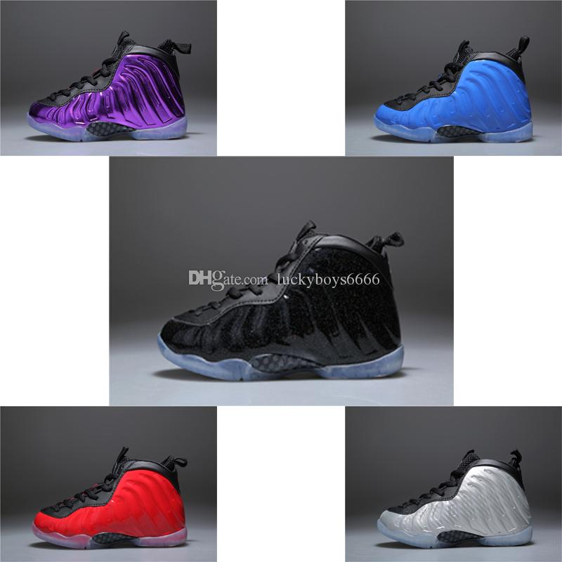 eb1c833e3ce 2018 New Kids Penny Hardaway Basketball Shoes Foam One Fruity Pebbles  Olympic USA Eggplant Royal Boys Girls Sport Sneakers For Birthday Gift  Sports Shoes ...