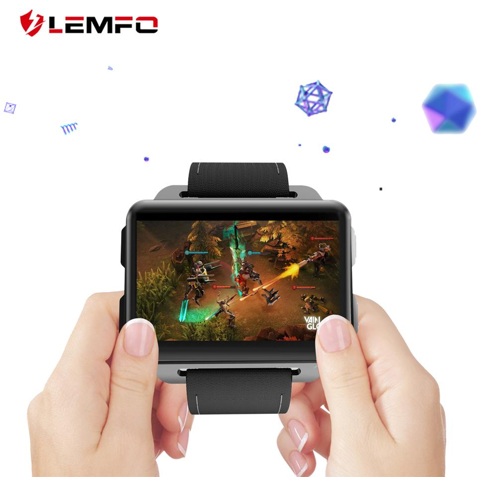 LEMFO LEM4 PRO Smartwatch Watches Men Support Android IOS SIM Card Blutooth  Handsfree Calls Camera GPS