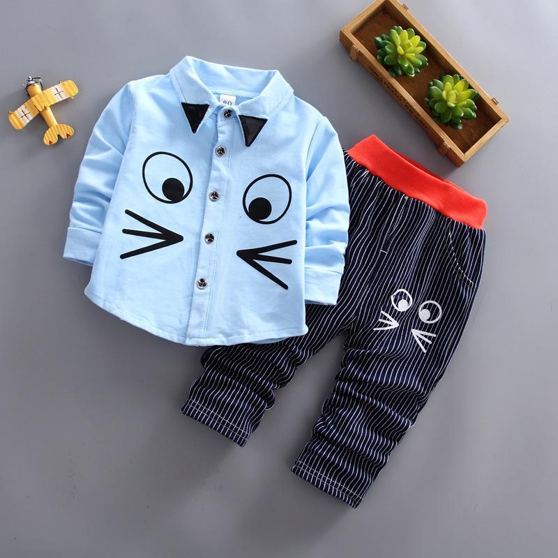 Acquista Buona Qualità Bambini T Shirt Pantaloni Set Autunno Neonati Maschi  Ragazze Che Coprono Gli Insiemi Del Fumetto Vestiti Casuali Abiti Infantili  Tute ... 2f53f1f8ef7