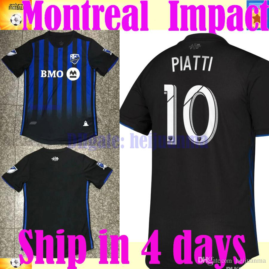 best service 8a18c d65eb Player version MLS 2019 2020 thailand Montreal Impact Soccer jersey 19 20  Camisa PIATTI EDWARDS MANCOSU TAIDER Impact home football shirt