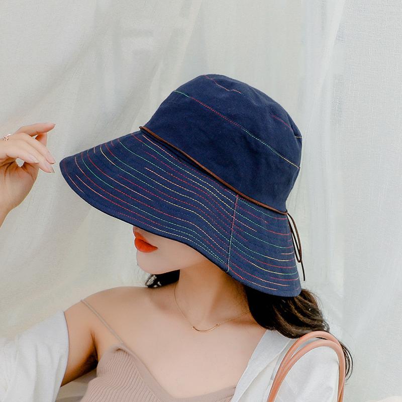029c1916 SUOGRY Women Summer Sun Hat Ladies Solid Wide Brim Hats Anti UV Female Flat  Top Fisherman Cap Fishing Hat Korea Style Bucket Bucket Hats For Men Womens  Hats ...