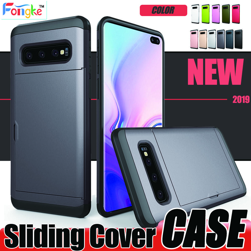 Sliding cover Case For Samsung Galaxy S10 S10e S9 S8 Plus S7 S6 edge Note 9 8 J3 J5 J7 Case TPU+PC Double-layer protected Cell Phone cases