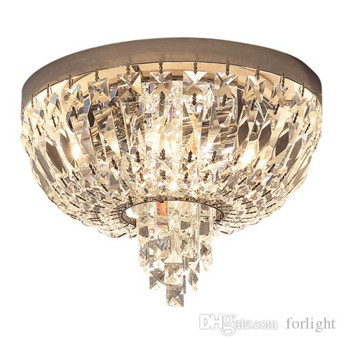 Modern Chandelier Crystal Lamps Ceiling Lights Round New Luxury Led ...