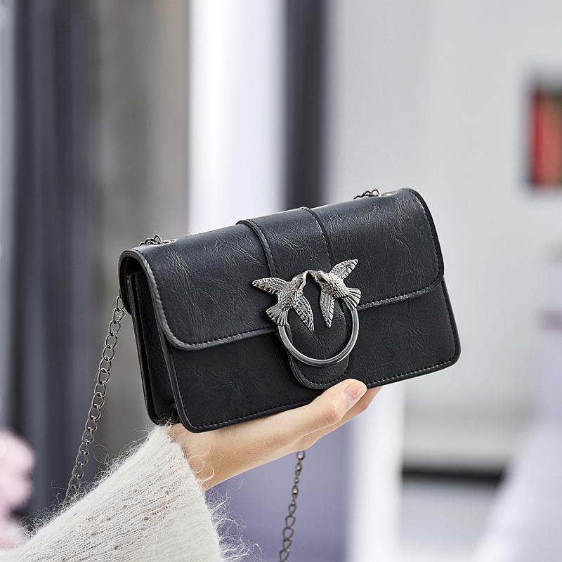 1f62538ec24 Small Girl 2018 New Brand designer Women s Handbag Fashion Bird Lock  Shoulder Flap PU Crossbody Bags Women Chain Messenger Bags