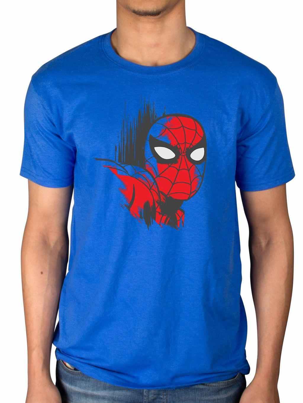 aef082f2 Official Marvel Comics Spiderman Art T Shirt Superhero Iron Man Hulk X Men  Fan Designer White T Shirt Printed T Shirts Funny From Yubin06, $25.33|  DHgate.