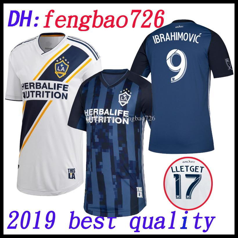 new concept dd6e6 60ea9 2019 2020 Thailand MLS La galaxy zlatan IBRAHIMOVIC Soccer Jerseys 19 20  Los Angeles Galaxy away Blue GIOVANI J.DOS SANTOS Football Shirts