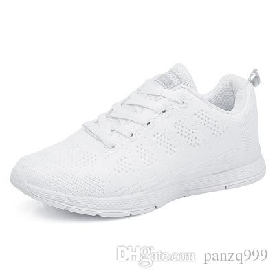 87f46bfb92d3 2019 2019 Summer New Running Shoes Women S Four Seasons Light Dance Sports  Korean Students Breathable Flying Woven Lace Casual Gym Shoes From  Panzq999