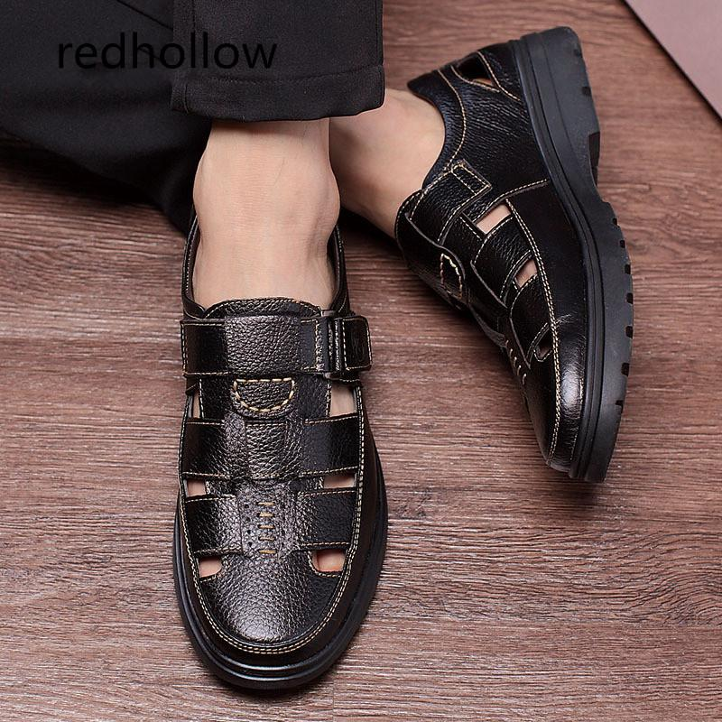 0e379d020 Men Sandals Men S Slippers Real Leather Shoes Summer Beach Sandals Casual  Soft Men Shoes Flip Flops Zapatos Breathable Shoe Shop Cute Shoes From  Paradyse