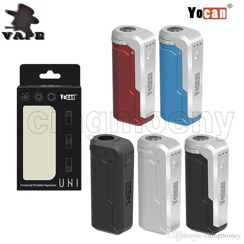 New Yocan UNI Vape Box Mod Battery 650mAh Preheat Variable Voltage VV  Battery With Magnetic 510 Thread Adapter For All Thick Oil Cartridges